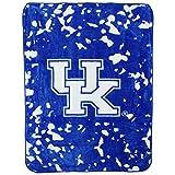 College Covers NCAA Rachel Throw Blanket, 63' x 86', Kentucky Wildcats,KENTH