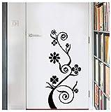 Flor de vid decorativa pegatinas de pared refrigerador vinilo vitrinas decoraciones para el hogar diy sala de estar apliques mural poster 26 * 58 cm