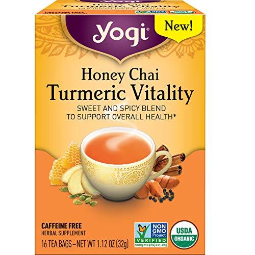 Yogi Tea - Honey Chai Turmeric Vitality (6 Pack) - Sweet and Spicy Blend - 96 Tea Bags Total