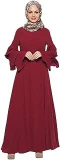 Palalibin Women Shirt,Women Muslim Loose Solid Color Robe Clothing Abaya Islamic Arab Kaftan Dubai