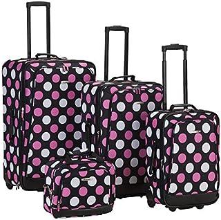 Rockland Escape 4-Piece Softside Upright Luggage Set