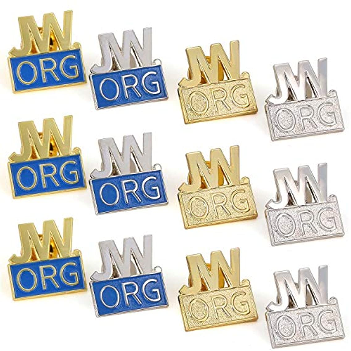 12 Pack JW.org Pin Made by Solid Metal Toned Into Gold Or Silver Great Jw.org Presents for Jehovah's Witnesses