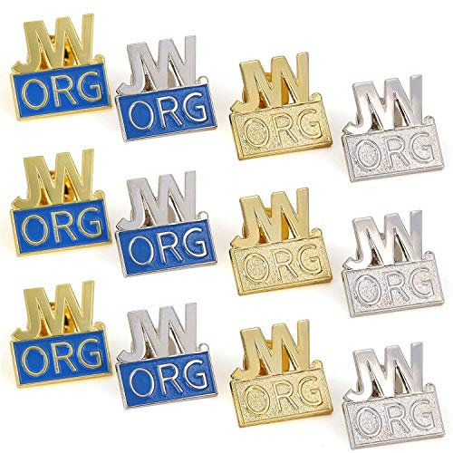 12 Pack JW.org Pin Made by Solid Metal Toned Into Gold Or Silver Great Jw.org Presents for Jehovah