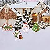 decorazioni all'aperto del prato inglese del segno dell'iarda di buon natale,pupazzo di neve, albero di natale, babbo natale, segnaletica decorazioni per iinterni ed esterni di natale fine anno