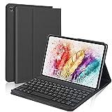 """DINGRICH Funda Teclado Español Ñ para Samsung Galaxy Tab S6 Lite 10.4"""" 2020 P610/P615, Teclado Bluetooth Inalámbrico Extraíble Magnético para Samsung Galaxy S6 Lite 10.4 2020 Tablet Negro"""