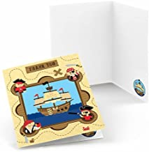 Big Dot of Happiness Ahoy Mates Pirate - Baby Shower or Birthday Party Thank You Cards (8 Count)