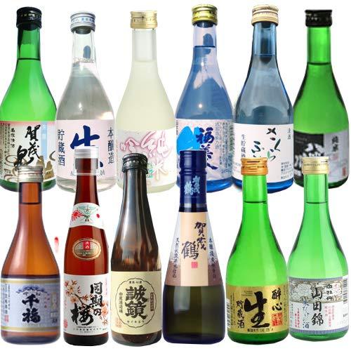 飲み比べセット 広島の日本酒 300ML×12本 賀茂鶴 白牡丹 亀齢 賀茂泉 誠鏡 千福 醉心