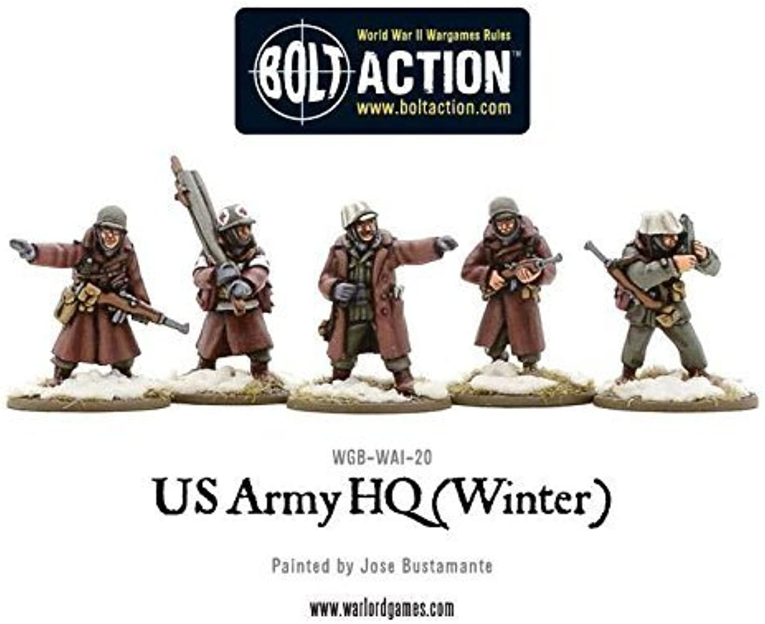 Warlord Games, US Army HQ (Winter), 28mm Bolt Action Wargaming figures by Bolt Action