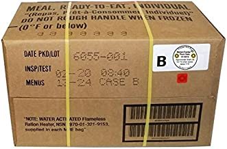 MRE 2020 Inspection Date Case, 12 Meals with 2020 Inspection Date, 2017 Pack Date. Military Surplus Meal Ready to Eat. (B-Case)