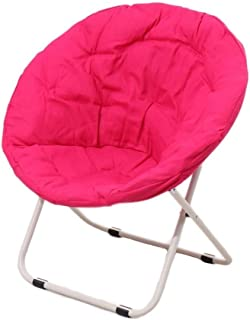 LLRYN Metal Lounger Sofa,Moon Saucer Chairs for Kids Adults Folding Padded Portable Gaming (Color : A)