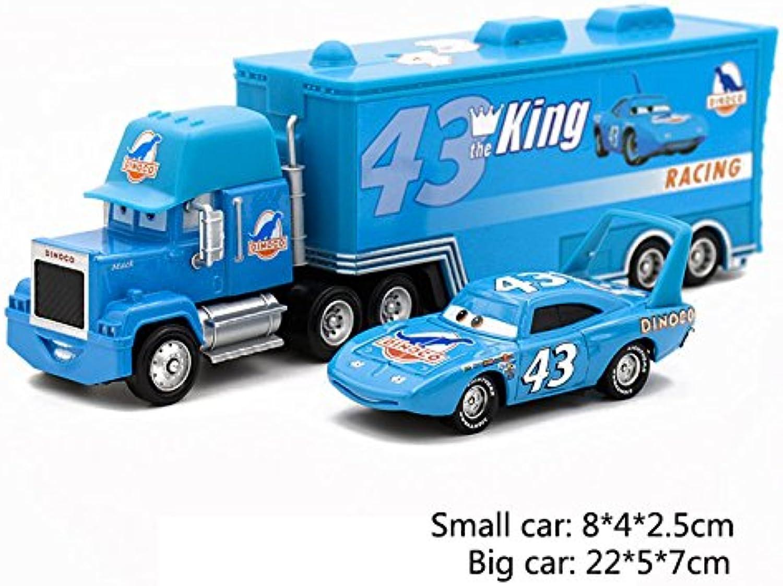 2pcs set 1 55 The King Pixar Car Set