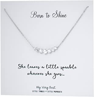 Born to Shine Sparkling Bar Necklace