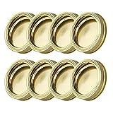 ZHAJIAN Tapas de Tarro de masón de Acero Inoxidable de 8 Piezas, Caja Resistente a la oxidación, frascos de Repuesto para Botellas de Viaje, Bandas de Tornillo para conservas