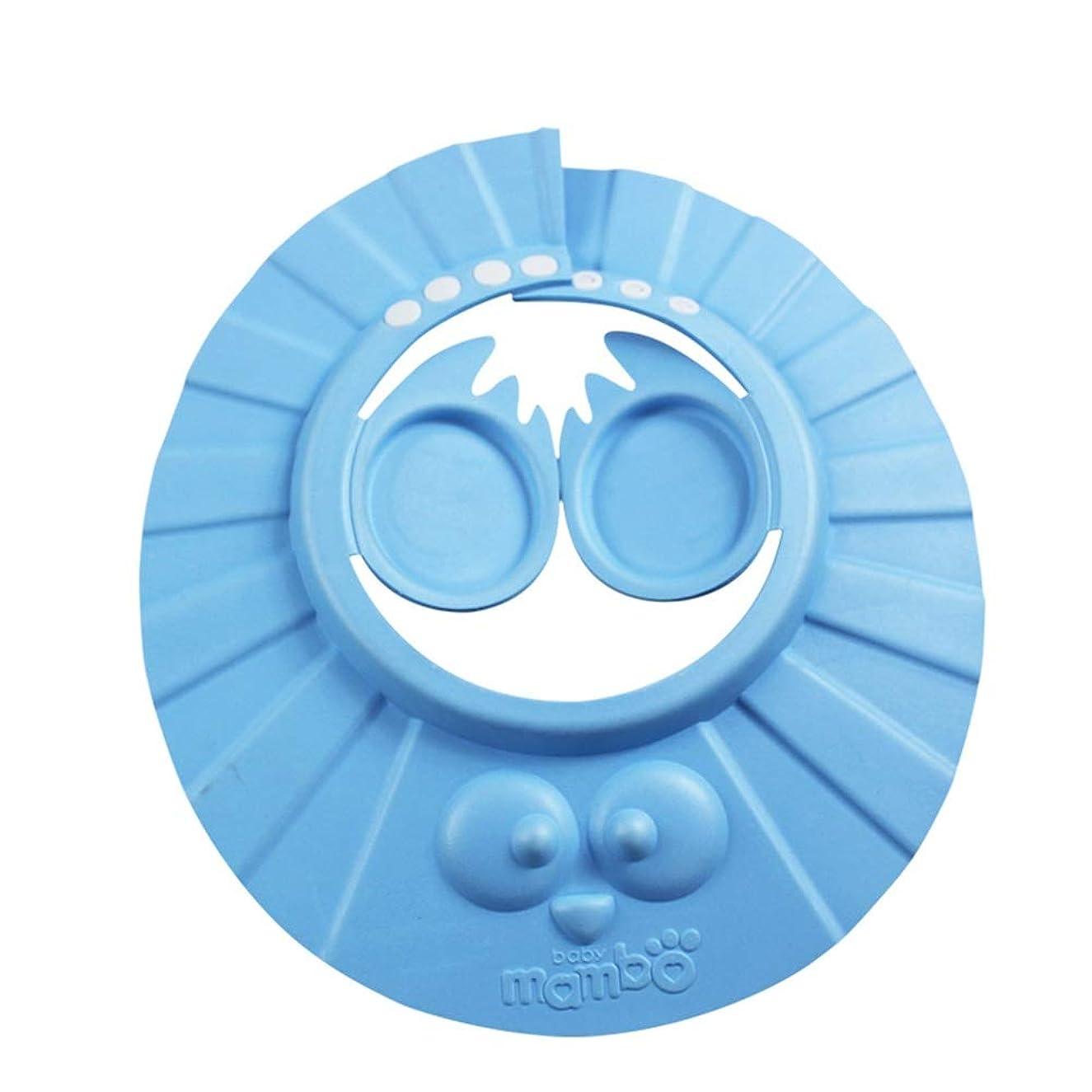 大胆不敵申請者開梱DEWUFAFA 1PCSかわいいベビーキッズアジャスタブルシャンプー風呂お風呂シャワーキャップハットウォッシュ髪の盾