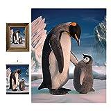 3D LiveLife Lenticular Cuadros Decoración - Pingüino de Deluxebase. Poster 3D sin marco de invierno. Obra de arte original con licencia del reconocido artista, David Penfound