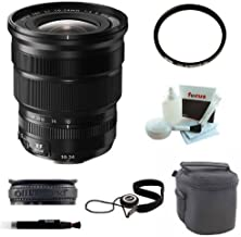 Fujifilm XF 10-24mm f/4 R OIS Lens with 77mm UV Protector and Deluxe Accessory Kit
