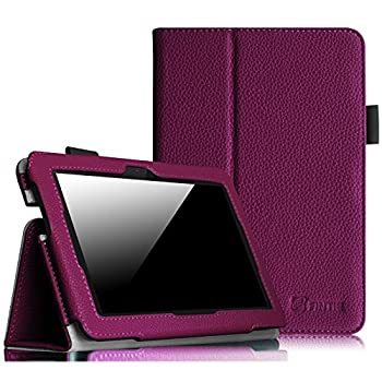 Fintie Folio Case for Fire HDX 7 - Slim Fit Leather Standing Protective Cover with Auto Sleep/Wake  Will only fit Kindle Fire HDX 7  2013  Purple