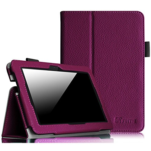 FINTIE Folio Case for Kindle Fire HDX 7 - Slim Fit Folio Premium Vegan Leather Stand Cover with Auto Sleep/Wake for Kindle Fire HDX 7' (3rd generation - 2013 release), Purple