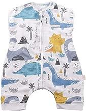 JanLEESi Baby Sleeping Bag Muslin Toddler Early Walker Sleeping Sack Short Sleeves