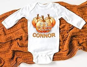 Baby Boys Pumpkin Patch Shirt I'm The Cutest Pumpkin in the Patch Bodysuit 1st Pumpkin Patch 1st Halloween Baby Boy Pumpkin Shirt