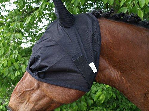 Fliegenmaske Fliegenhaube mit Ohren + Dehngummi !! Minishetty Minipony MS S P VB WB Kaltblut Tysons Breeches (Pony)