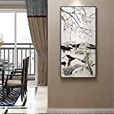 Vertical Version DIY 5d Full Diamond Painting Jiangnan Landscape Ink Porch Round Diamond Cross Stitch Xuantai Day Home Decoration 60X110CM A