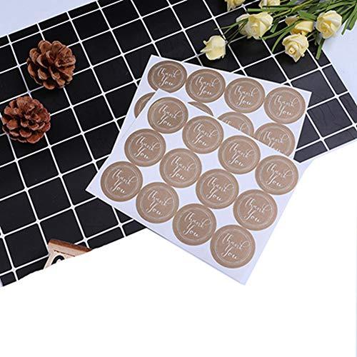Egurs 220 stuks 35mm Thank You etiketten stickers voor cadeauzakjes kaart envelop bruiloft doop
