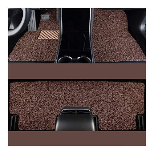 Huilian Mat Auto, Tappetino Antiscivolo Seta Loop Rilievo del Piede for Volvo S60 2014 2015 2016 2017 2018 2019 2020 Tappetini Auto (Colore : Beige Brown)