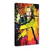 Kill Bill Farb-Kunst-Leinwand-Poster, Schlafzimmer,
