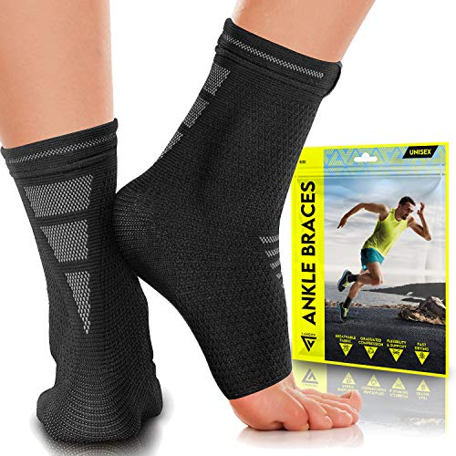 Langov Ankle Brace Support for Men amp Women Pair Best Compression Sleeve Socks for Your Foot or Sprained Ankle Helps With Achilles Tendonitis and Injury Recovery Swelling or Heel pain Nano socks
