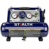 Stealth Air Compressor, Ultra Quiet Air Compressor 1 Gallon ½ HP Max 125...