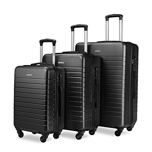 Luggage Sets Spinner Hard Shell Suitcase Lightweight Luggage - 3 Piece (20' 24' 28') - Galaxy...