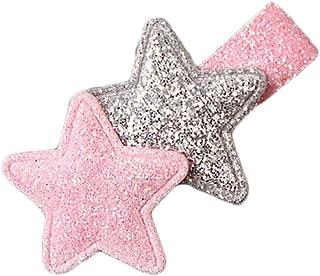 Clips de niños niño de los niños del Brillo del Pelo de la Princesa Estrella Hairgrips Headwear niños Pin Garra del Pelo Regard