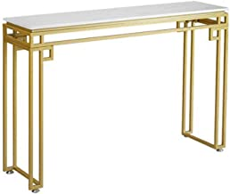 Console Table,Hall Decoration Table Entrance Cabinet Marble Livingroom Sofa Table Iron Art Display Table Gold 30 × 11 × 30...