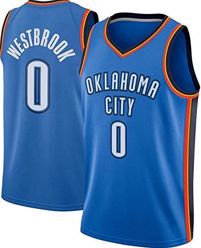 WSUN Camiseta De Baloncesto Ropa De Baloncesto para Hombres - NBA Oklahoma City Thunder # 0 Russell Westbrook Fan Jersey Chalecos Sin Mangas Bordados Clásicos,L