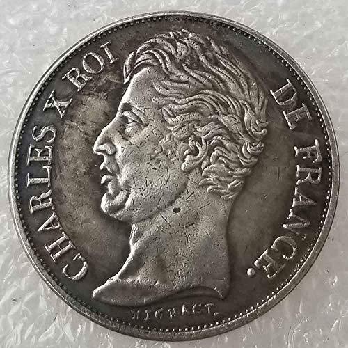 DDTing Best Silver Coins – 1828 French Napoleon Gedenkmünze – französische alte Münze zum Sammeln – Silber-Dollar Old Morgan Dollar, versilbert