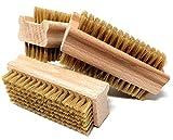 Pilix WEICHE Nagelbürste Holz Naturborsten   3 Stück   sanft da naturgeschlitzt   Fingerbürste Nagelbürste   Handbürste Nagelbürste Kinder   Gemüsebürste Holz Naturborsten   Nail Brush