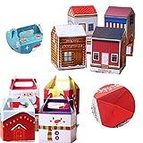 Xumier 40pcs Caja de almacenamiento de manzana navideña Caja de regalo de navidad Caja de regalo de papel Caja de navidad Caja de dulces navideños Decoración de fiesta de Halloween Bolso de fiesta