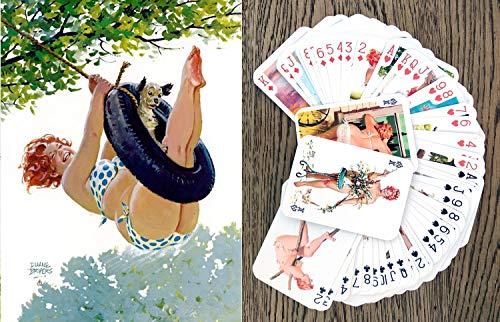 Hilda Kartenspielen (Poker Deck 54 Karten alle verschieden) Hilda Chubby Redhead Sexy Girl in Swimsuit Vintage Plus Size Pinup