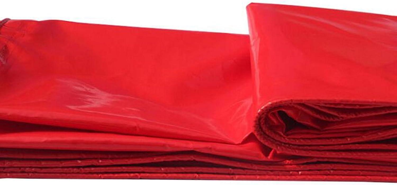 ZRTarps Tarpaulin Waterproof Tarp, Heavy Duty MultiPurpose, Outdoor Red 460g m2, 0.45mm Outdoor Equipment (color   RED, Size   4  7m)