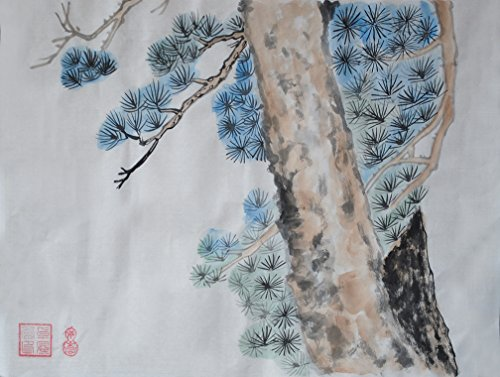 Oeuvre D 'Art sans cadre peint à la main art chinois pinceau encre et laver peinture aquarelle dessin image sur papier de riz Pin Décorations pour bureau salon chambre à coucher