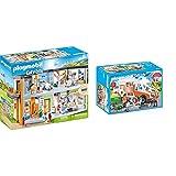 Playmobil City Life: Gran Hospital Set Juguetes, Multicolor, Talla Única (70190) + City Life 70049 Ambulancia con Luces, A Partir De 4 Años
