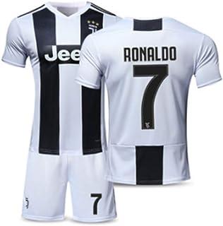 b75487e6aeea8 BINGLI Juventus Ronaldo # 10 Home 2018/2019 Football Jersey Et Shorts Match  Chaussettes Enfants