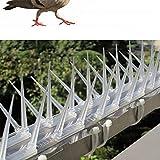 LF Bird Spike - Set di 3 Punte, Altezza Dell'ago Estesa 8 Cm - Animali Deterrenti Efficaci, Piccioni, Altri Uccelli - Chiodi per Uccelli in Plastica per Balcone All'aperto