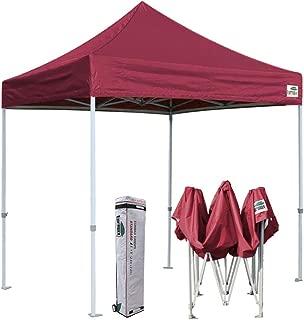 Eurmax 8x8 Feet Ez Pop up Canopy, Outdoor Canopies Instant Party Tent, Commercial Gazebo Bonus Roller Bag (Burgundy)