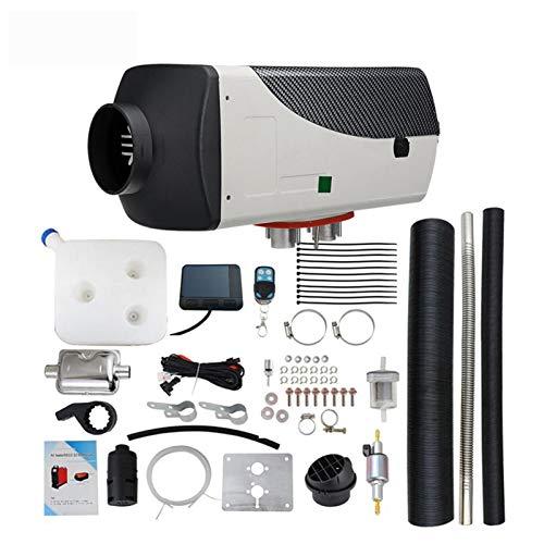heresell Calentador de aire diésel de 5 kW, 24 V, calefactor de aire diésel, con pantalla LCD, silenciador y mando a distancia para coches, caravanas, barcos, camiones, autocaravanas, autobuses