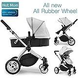 Hot Mama Multi stroller 2-in-1 stroller oo leh bug iyo cagaha, 2020 naqshad cusub, (cawlan)