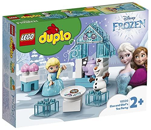LEGO Duplo 10920 Disney La Reine des neiges Le Goûter d'Elsa Et Olaf, Jouet avec Grandes Briques et Poupée pour Enfants de 2 Ans