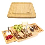 Cheese Board Set - Stainless Steel Cheese Knife Two Serving Trays as Part