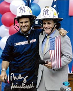 Rudy Giuliani autographed photo (Mayor of New York City 911 Era pictured with Yankees Joe Torre) size 8x10 Image #2 Construction Hats